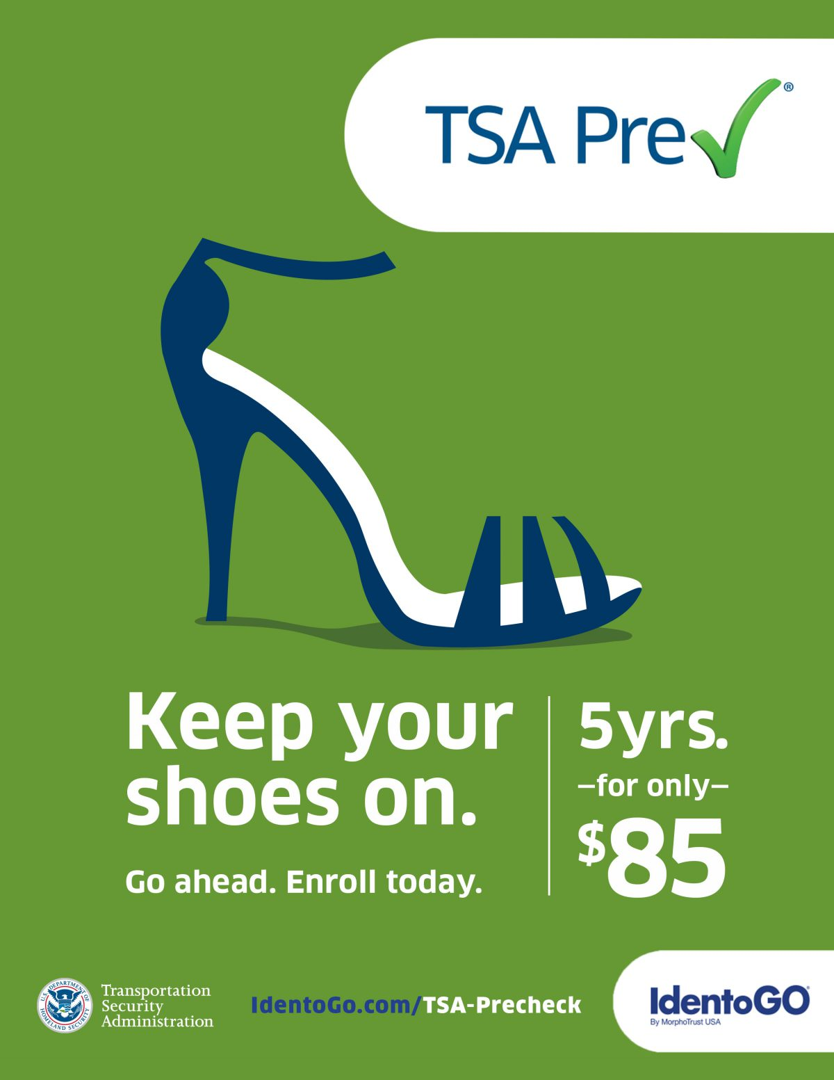 Keep Your Shoes On campaign for TSAPre-check