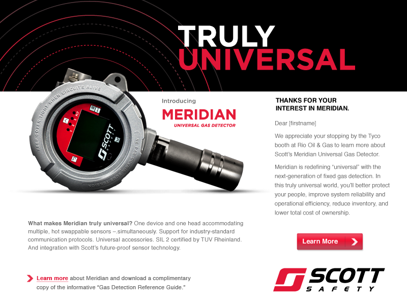 Email Ad for Scott Safety
