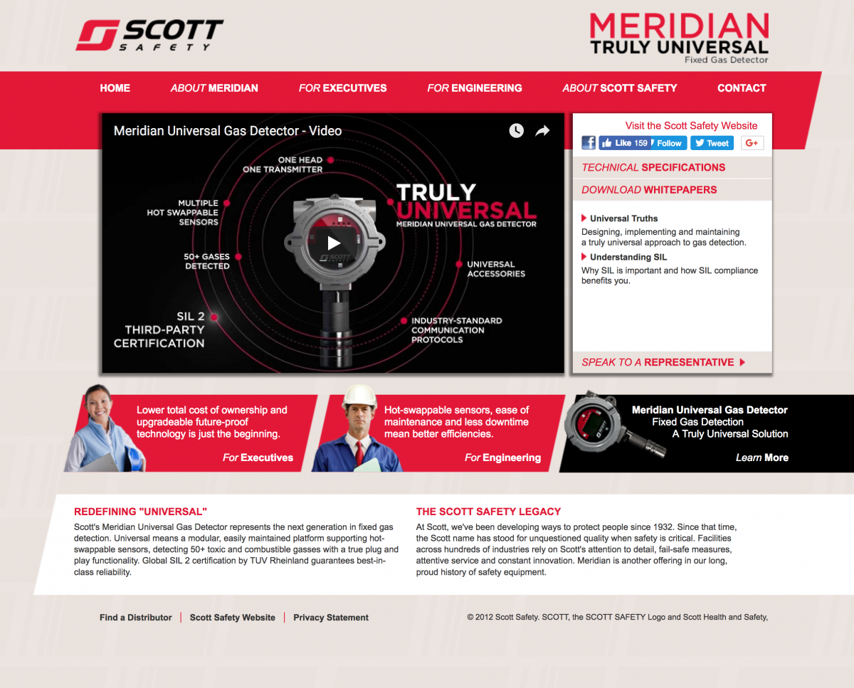 Microsite for Scott Safety