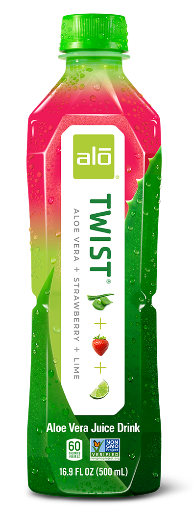 ALO Drink ALO Twist Strawberry and Lime flavor